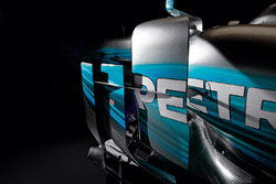 Mercedes AMG F1 W08 detalle de laterales