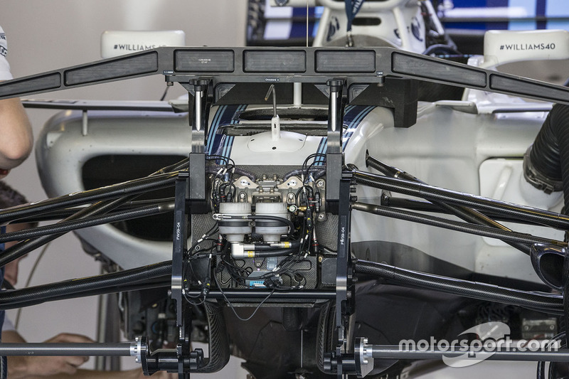 Williams FW40 ön süspansiyon detay