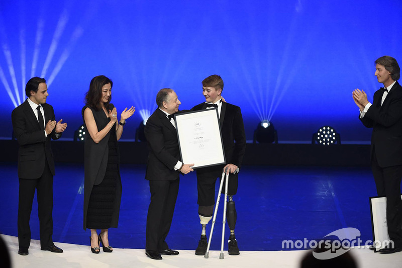 Billy Monger with Jean Todt
