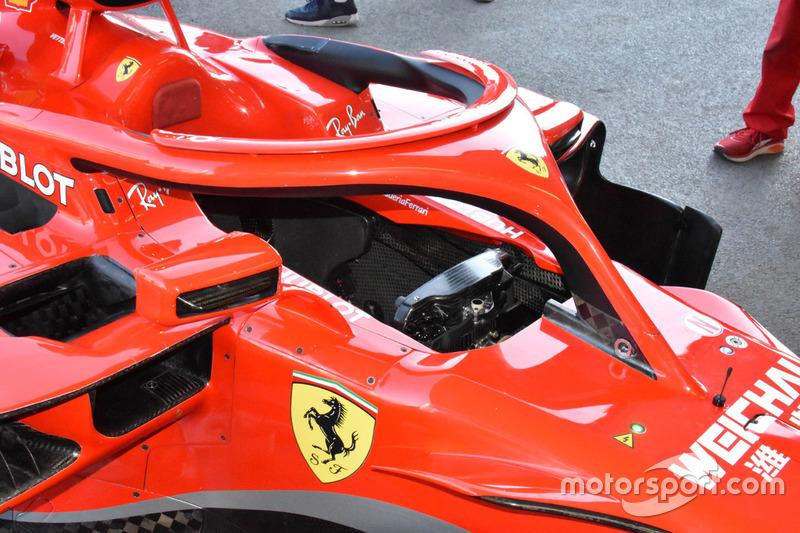 Ferrari SF71H, dettaglio dell'abitacolo