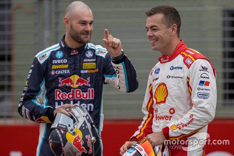 Shane van Gisbergen, Triple Eight Race Engineering, and Scott McLaughlin, DJR Team Penske
