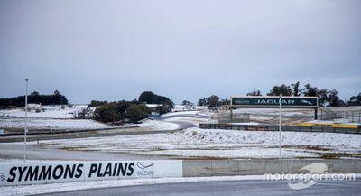 Symmons Plains snowfall