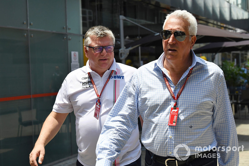 Otmar Szafnauer, team principal Racing Point Force India et Lawrence Stroll, propriétaire de Racing Point Force India F1 Team