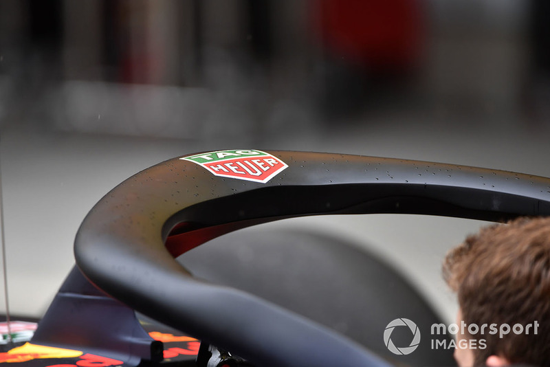 El Halo en el Red Bull Racing RB14