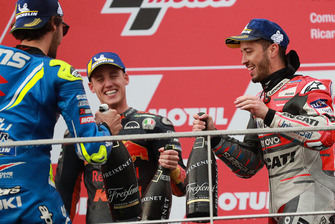 Podium: race winner Andrea Dovizioso, Ducati Team, second place Alex Rins, Team Suzuki MotoGP, third place Pol Espargaro, Red Bull KTM Factory Racing