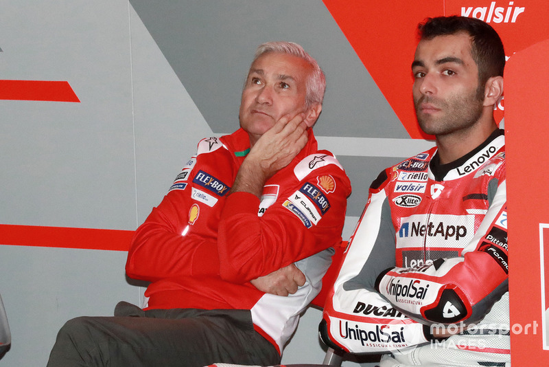 Danilo Petrucci, Ducati Team, mit Davide Tardozzi