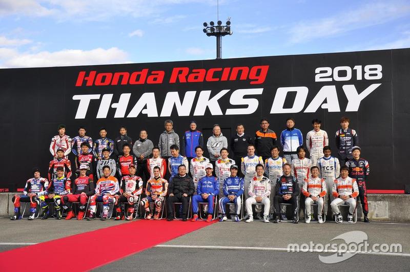 Seluruh peserta Honda Racing THANKS DAY 2018