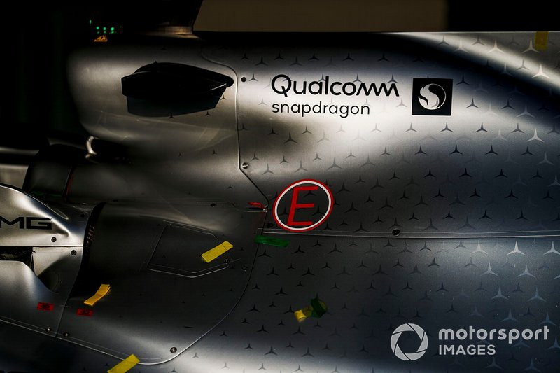 Engine cover on the Mercedes AMG F1 W10