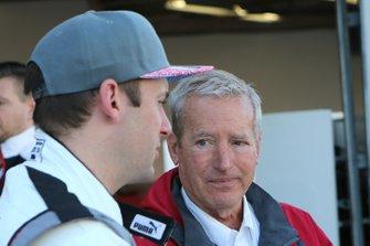 Nick Tandy and Hurley Haywood converse