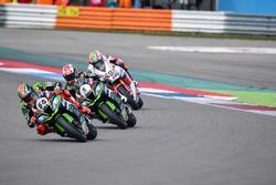 Tom Sykes, Kawasaki Racing Team, Jonathan Rea, Kawasaki Racing Team y Nicky Hayden, Honda WSBK Team