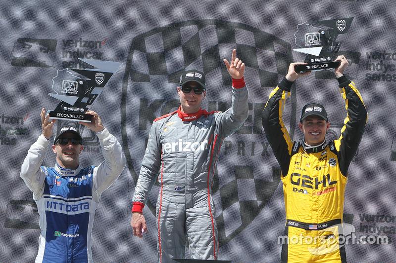 Podyum: 1. Will Power, Team Penske Chevrolet, 2. Tony Kanaan, Chip Ganassi Racing Chevrolet, 3. Grah