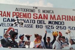 Podium: race winner Pierpaolo Bianchi, second place Jorge Martínez, third place Manuel Herreros