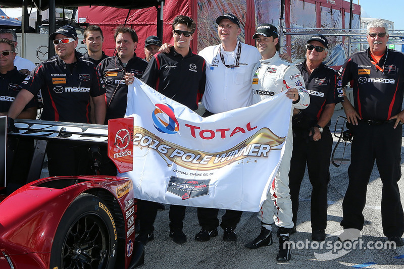 Polesitters #55 Mazda Motorsports Mazda Prototype: Jonathan Bomarito, Tristan Nunez