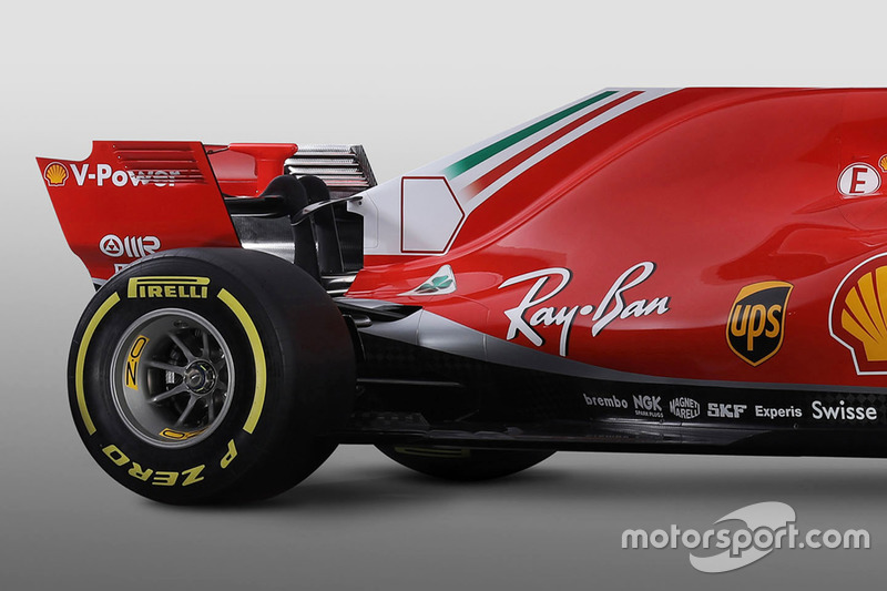 Ferrari SF71H detalle trasero