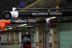 McLaren pit duvarı