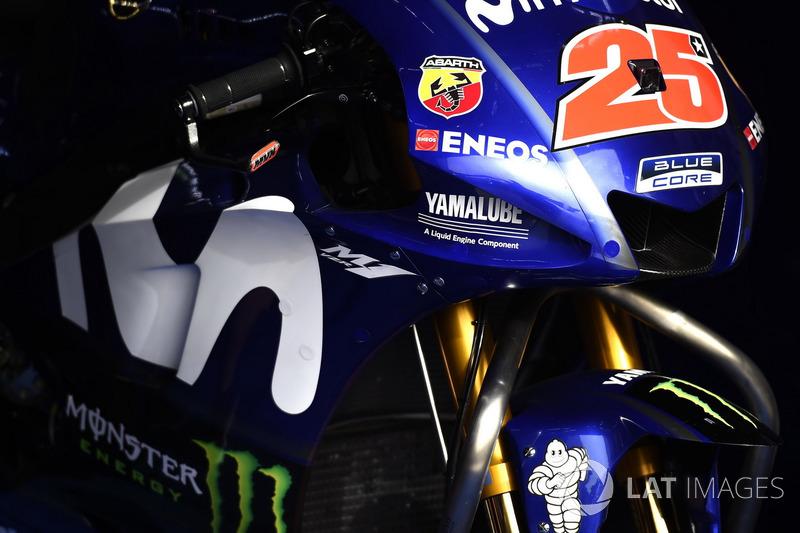 Fairing on the bike of Maverick Viñales, Yamaha Factory Racing
