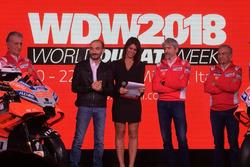 Claudio Domenicali, CEO Ducati, Davide Tardozzi, Team Manager Ducati e Paolo Ciabatti, Direttore Sportivo Ducati, Luigi Dall'Igna, Jorge Lorenzo, Andrea Dovizioso, Michele Pirro
