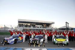 Nico Müller, Audi Sport Team Abt Sportsline, Audi RS 5 DTM, Mattias Ekström, Audi Sport Team Abt Sportsline, Audi A5 DTM, Jamie Green, Audi Sport Team Rosberg, Audi RS 5 DTM, René Rast, Audi Sport Team Rosberg, Audi RS 5 DTM, Loic Duval, Audi Sport Team Ph