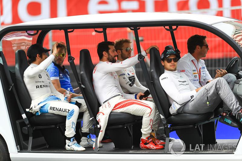 Nick Heidfeld, Mahindra Racing, Nicolas Prost, Renault e.Dams, Sam Bird, DS Virgin Racing, Jose Mari