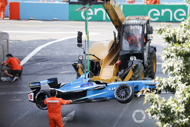 Crashed car of Nicolas Prost, Renault e.Dams