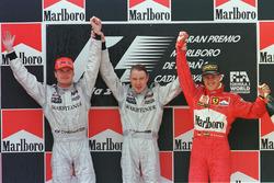 Podium: winner Mika Hakkinen, McLaren, second place David Coulthard, McLaren, third place  Michael Schumacher, Ferrari