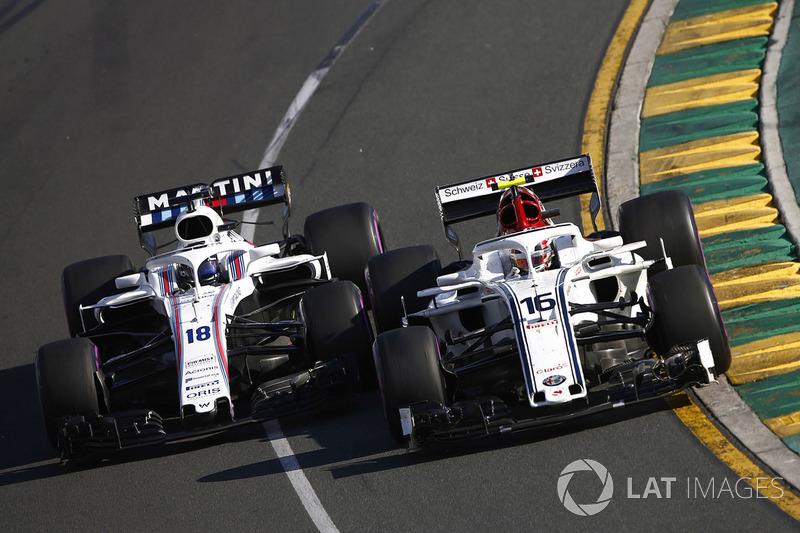Шарль Леклер, Alfa Romeo Sauber C37, и Лэнс Стролл, Williams FW41