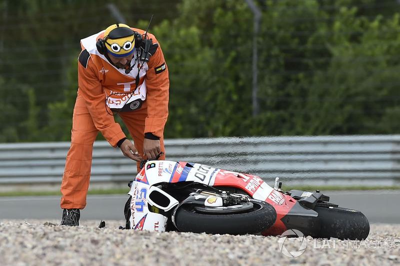 Авария: Скотт Реддинг, Pramac Racing