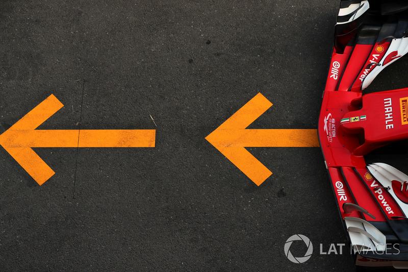 Гран Прі Азербайджану. Переднє антикрило Ferrari SF70H