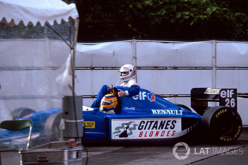 Mark Blundell, Ligier Renault JS39, Martin Brundle, Ligier Renault
