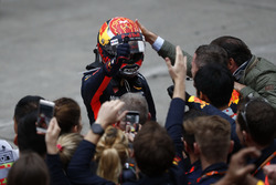 Max Verstappen, Red Bull Racing, feiert im Parc Ferme
