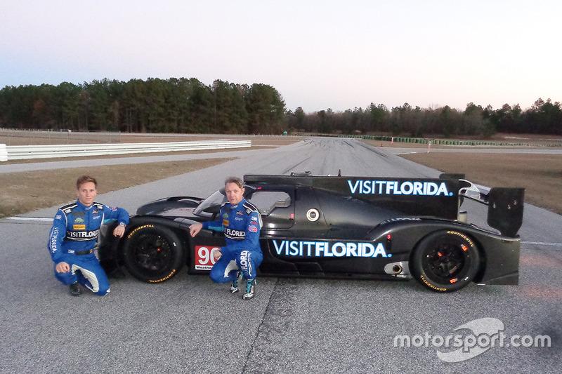 Pilotos, Renger van der Zande y Marc Goossens con el nuevo VisitFlorida.com Racing Riley-Gibson