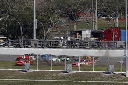 Ryan Reed, Roush Fenway Racing Ford, crash