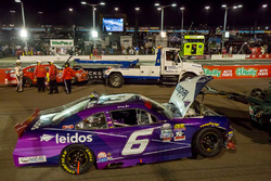 Crashed car of Darrell Wallace Jr., Roush Fenway Racing Ford