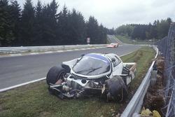 Crash, Derek Bell, Stefan Bellof, Porsche 956
