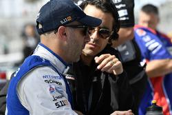 Tony Kanaan, Chip Ganassi Racing Honda, Dario Franchitti