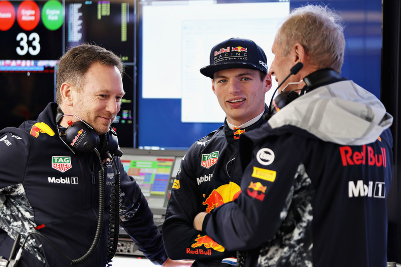 Max Verstappen, Red Bull Racing, Christian Horner, Red Bull Racing Team Principal, Dr. Helmut Marko, Red Bull Motorsport Consultant