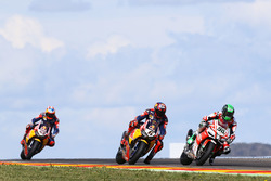 Eugene Laverty, Milwaukee Aprilia World Superbike Team; Stefan Bradl, Honda World Superbike Team; Nicky Hayden, Honda World Superbike Team