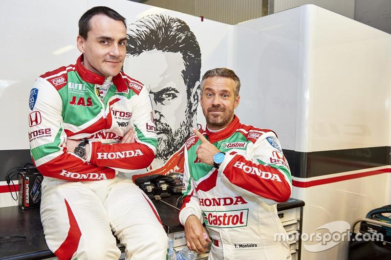 Norbert Michelisz, Honda Racing Team JAS, Honda Civic WTCC; Tiago Monteiro, Honda Racing Team JAS, Honda Civic WTCC