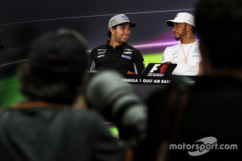Sergio Perez, Force India, Lewis Hamilton, Mercedes AMG
