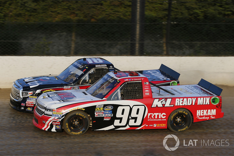 Ty Dillon, MDM Motorsports Chevrolet, Noah Gragson, Kyle Busch Motorsports Toyota