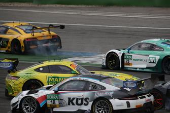 #47 HTP Motorsport Mercedes-AMG GT3: Maximilian Götz nach dem Unfall