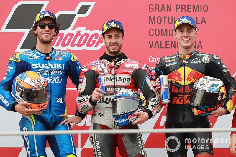 #19 GP de Valence - Podium : Andrea Dovizioso, Álex Rins, Pol Espargaró