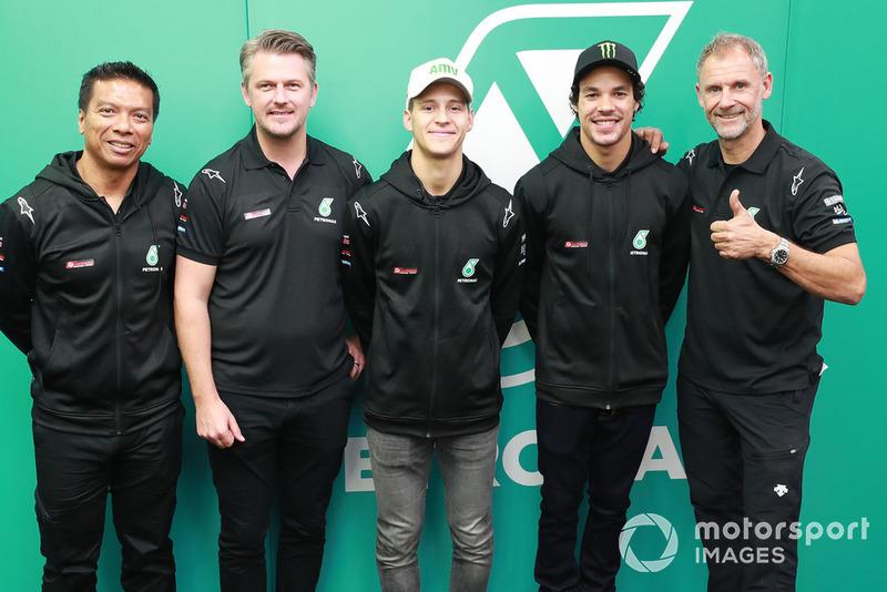 Razlan Razali, Johan Stigefelt, Fabio Quartararo, Franco Morbidelli, Wilco Zeelenberg, Petronas Yamaha SRT