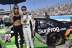 Gray Gaulding, BK Racing Toyota with a hot grid girl