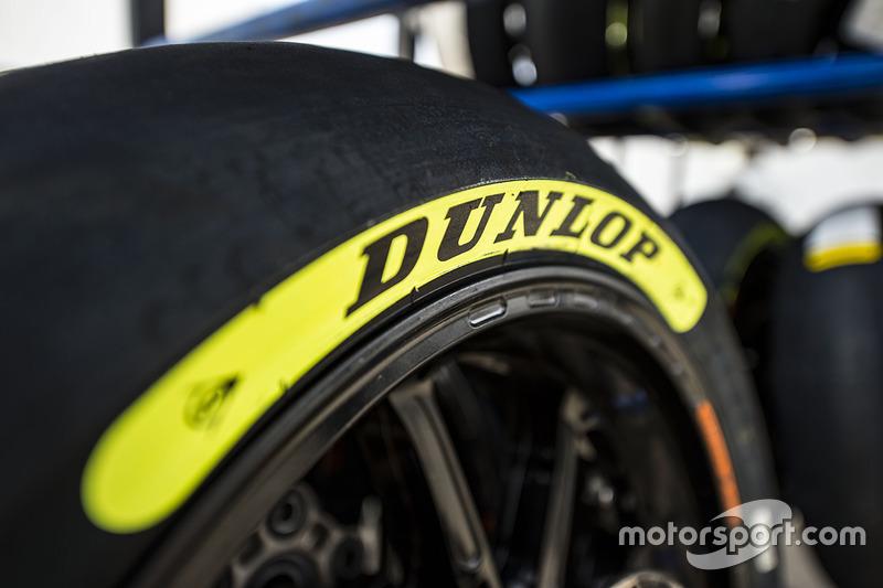 Marcadores de color de grado de neumáticos de Dunlop