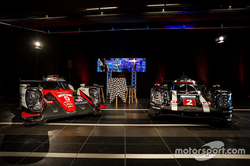 La Toyota et la Porsche LMP1
