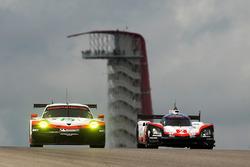 #2 Porsche Team Porsche 919 Hybrid: Timo Bernhard, Earl Bamber, Brendon Hartley, #91 Porsche Team Porsche 911 RSR: Richard Lietz, Frédéric Makowiecki