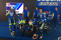 Andrea Iannone  and Alex Rins with the 2017 Suzuki MotoGP