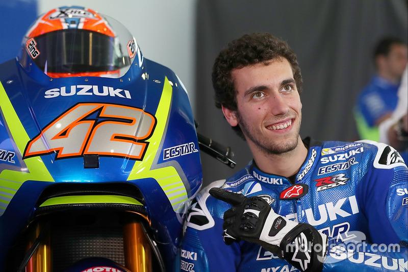 Alex Rins met de 2017 Suzuki MotoGP