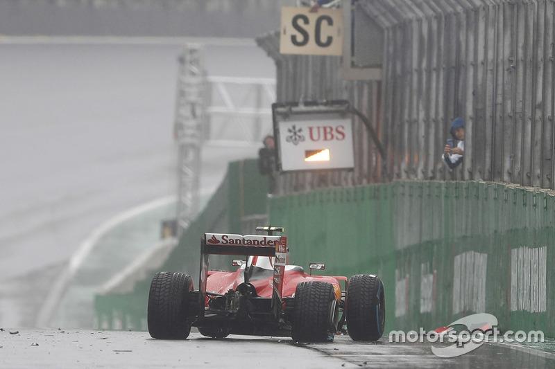 Accidente de Kimi Raikkonen, Ferrari SF16-H